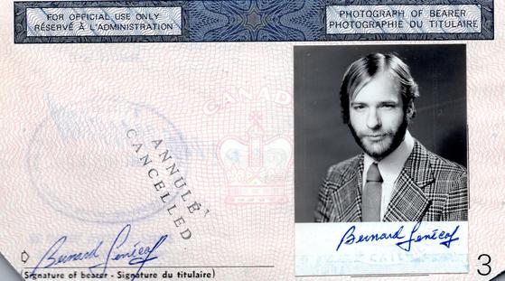 프랑스 예수회 입회 직후에 만든 여권 사진. [사진 서명원 신부]
