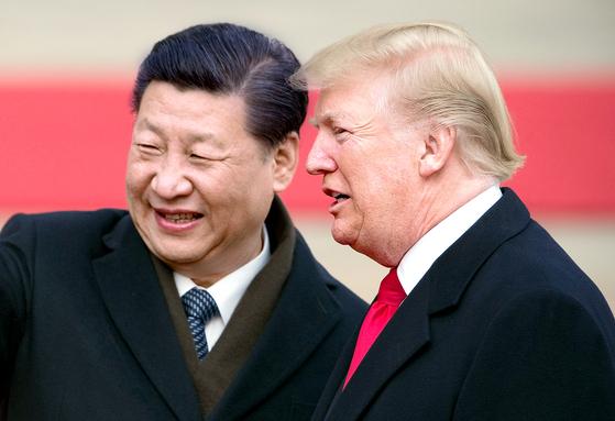 시진핑 중국 국가주석(왼쪽)과 도널드 트럼프 미국 대통령. [AFP=연합뉴스]
