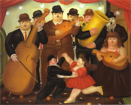 콜롬비아의 춤(Dance in Colombia, 1980), Fernando Botero. [사진 위키아트]