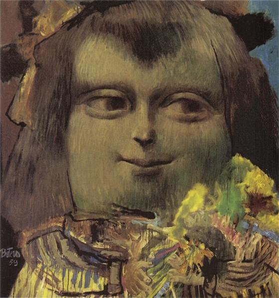 12살의 모나리자(Mona Lisa at the Age of Twelve Years, 1959), Fernando Botero. [사진 WIKIART]