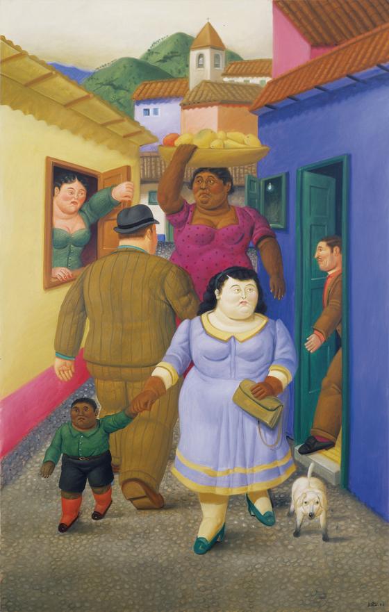 거리(La Calle, The Street, 2000), Fernando Botero. [중앙포토]