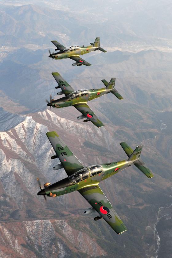 KA-1 항공기는 지상 작전을 지원하는 근접 항공 지원(CAS) 뿐 아니라 해안으로 침투하는 적을 저지한다. [사진 공군 제공]