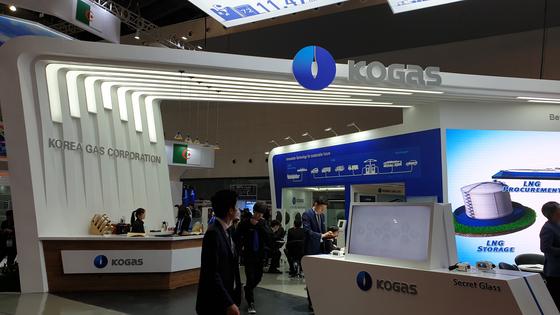 중국 상해에서 열린 LNG 2019에 참석한 한국가스공사 부스 전경. 한국은 일본, 중국에 이은 LNG 3대 수입국 중 하나다. 강기헌 기자