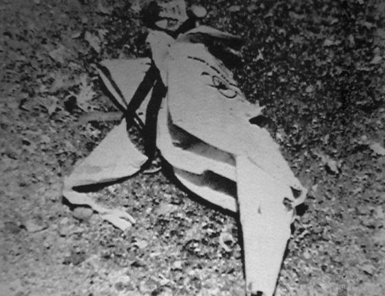 일본 언론이 1983년 사고 직후 공개한 대한항공 마크가 선명하게 남아있는 구명동의. [이즈베스티야=플라이데이]