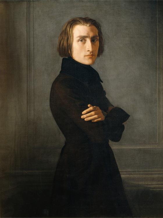 리스트(Franz Liszt)의 29세때 모습. 앙리 리만(Henri Lehmann) 그림(1839)이다. 파리 카르나발레 미술관 소장. [사진 Wikimedia Commons(Public Domain)]