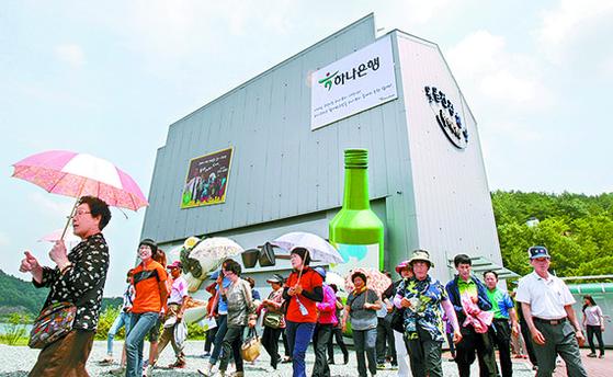 2013년 '코미디철가방극장'. 재밌다는 소문이 나면서 외지인 발길이 이어졌다. [중앙포토]