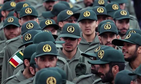 이란 혁명수비대 대원들 모습. [EPA=연합뉴스]