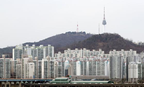 지난 14일 서울 시내의 아파트 단지 [연합뉴스]