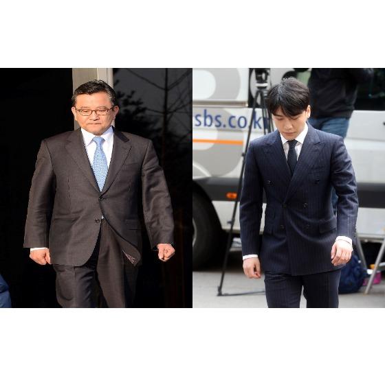 김학의 전 법무부 차관(왼쪽)과 가수 승리. [중앙포토]