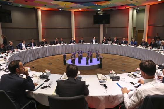 브렉시트 추가 연기를 결정한 EU 정상회의. [EPA=연합뉴스]