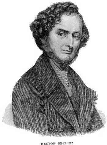 베를리오즈. 판화. 작가 시기 미상. [사진 Wikimedia Commons (Public Domain)]
