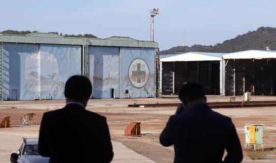 통영시 도남동 신아sb 폐조선소 모습. 세계 16위 였던 신아sb는 2015년 문을 닫았다. [뉴스1]