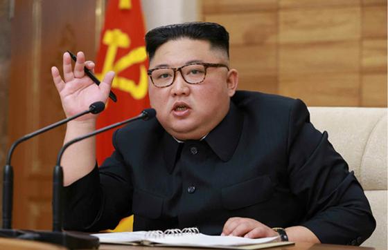북한 노동신문은 김정은 국무위원장이 지난 9일 노동당 중앙위원회 본부 청사에서 '조선노동당 중앙위원회 정치국 확대회의'를 주재했다고 10일 보도했다. [뉴시스]