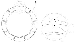 서방형 약물방출 콘택트렌즈의 원리. 수 마이크로미터 수준의 홈을 렌즈를 따라 파고, 콜라겐으로 이를 밀봉, 눈물 성분으로 이를 자연스럽게 녹게 만든다. [그래픽제공=특허청]
