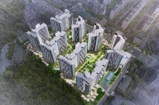 서울시 서초구 방배동의 방배그랑자이(방배경남아파트 재건축) 조감도 [사진 GS건설]