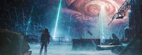 영화 '유랑지구'에서 지구는 목성에 충돌할 위기를 맞는다. [사진 씨네그루㈜키다리이엔티]