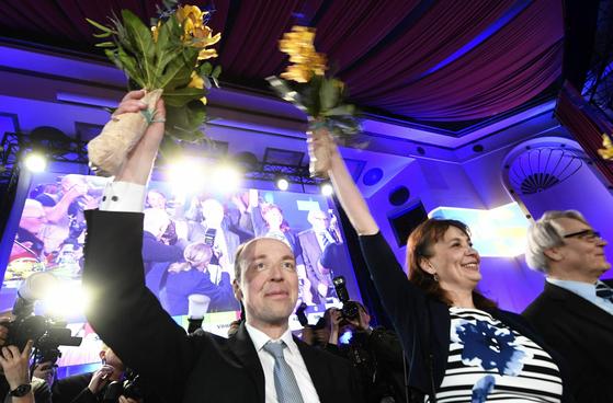 반이민 성향 핀란드인당의 유시 할라아오 대표 [AP=연합뉴스]