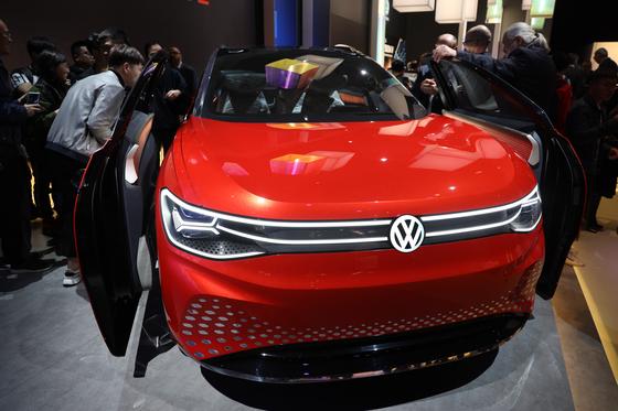 폴크스바겐이 상하이모터쇼 2019에서 월드프리미어로 공개한 대형 SUV ID.룸즈. 오원석 기자
