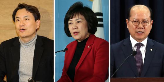 '5·18 망언'으로 논란을 빚고 있는 김진태(왼쪽부터), 김순례, 이종명 의원.(뉴스1 DB)