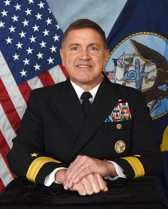 17일 훈장과 한국 이름을 받는 마이클 보일 주한미해군사령관(준장). [해군 제공]