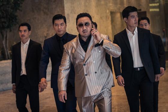 마동석이 조직 보스 역할로 주연을 맡은 영화 '악인전' . [사진 에이스메이커]