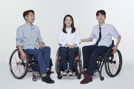삼성물산패션이 휠체어 장애인을 위한 비즈니스캐주얼 브랜드 하티스트 론칭했다. [사진 삼성물산패션]