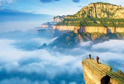 태항산 대협곡은 중국 산시성·허난성 경계의 팔천협·홍두협· 흑룡담·청룡협·자단산 관광지구를 칭한다. [사진 보물섬투어]