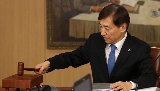 지난 2월 이주열 한국은행 총재가 금융통화위원회를 주재하고 있다. [연합뉴스]