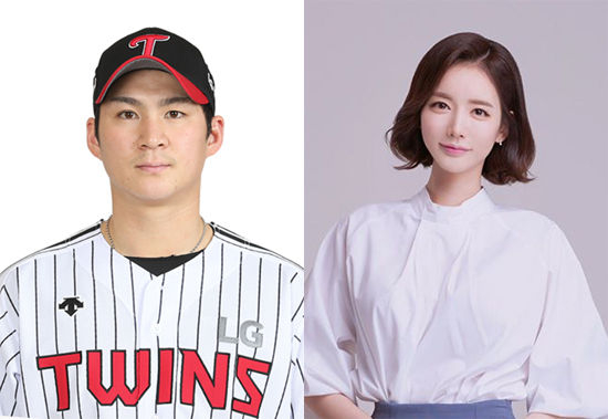 LG 트윈스 내야수 오지환(29)과 쇼호스트 김영은(30). [중앙포토]