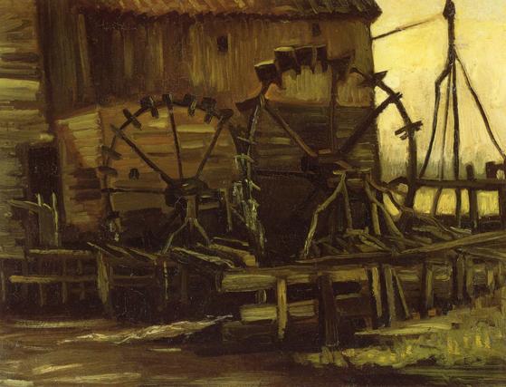 고흐(Vincent Van Gogh)의 '수차가 있는 가교(Water Mill at Gennep)'. [사진 위키미디아커먼(퍼블릭 도메인)]