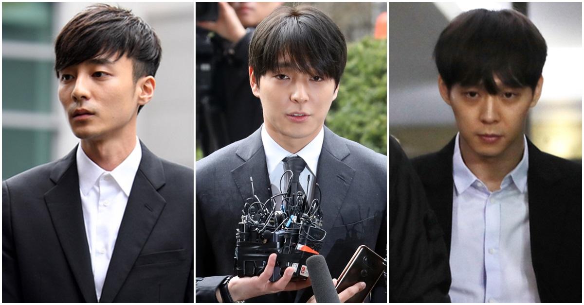 왼쪽부터 가수 로이킴·최종훈·박유천. [뉴스1]