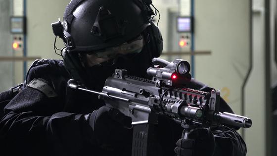 육군의 K1A 개량형. [영상캡처=공성룡 기자]