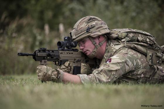 영국 육군의 L85A3 소총. [사진 Military Today]