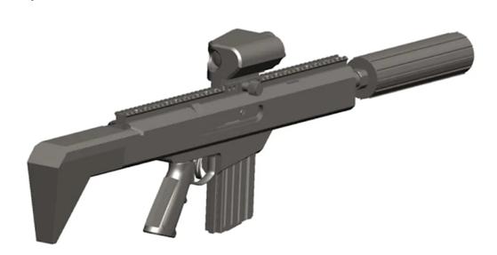 미 육군이 NGSW 사업을 발표하면서 제시한 NGSW의 콘셉트 그래픽. 이 디자인이 결정된 것은 아니다. 다만 이런 콘셉트의 소총이 필요하다는 걸 보여준다. [자료 미 육군]