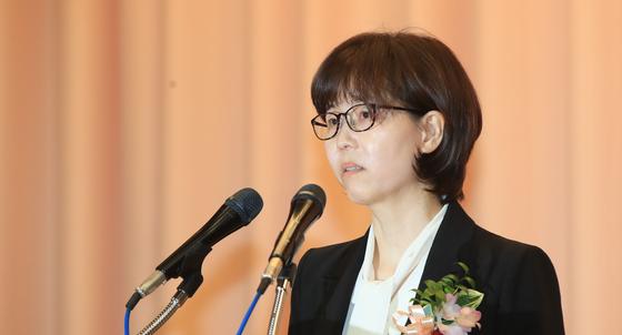 취임사하는 이미선 신임 헌법재판관 [연합뉴스]