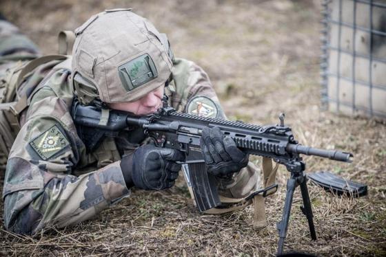 프랑스 육군의 HK416 소총. [사진 프랑스 육군]