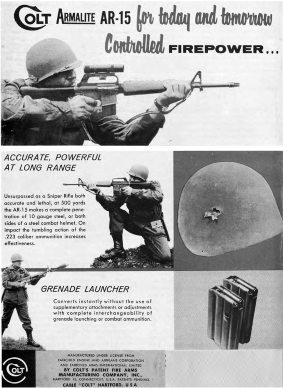 M16의 원형인 AR-15 광고. [사진 콜트]