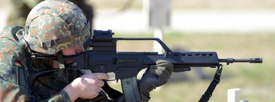 독일 육군의 G36 소총. [사진 독일 연방군]