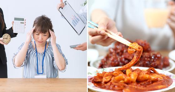 스트레스와 피로, 자극적인 음식은 인후에 화와 열을 쌓이게 한다. [사진 photoAC, 중앙포토]