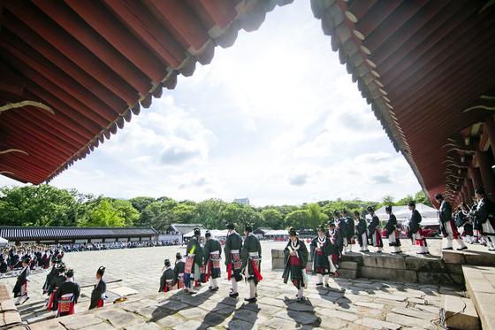 2018년 종묘대제 풍경. [사진 문화재청]