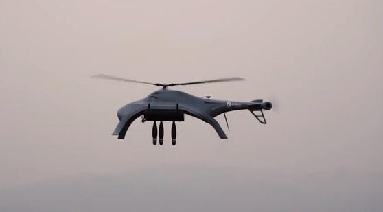 중국이 아랍에미리트에 수출한 드론 군사로봇 '블로피시-A2'. 자율적으로 고정 표적을 감시하고 정밀타격할 수 있는 능력을 갖췄다.
