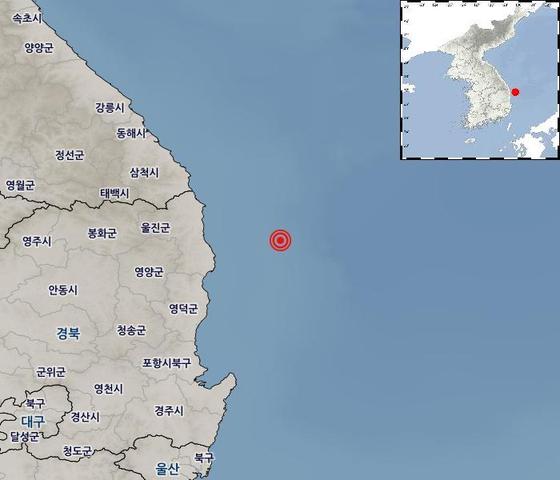 """경북 울진군 해역서 규모 3.8 지진…""""침대 흔들려 깼다"""""""