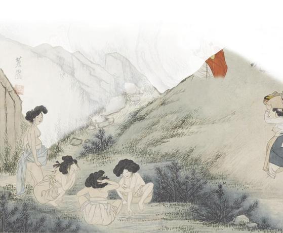 조선 후기 풍속화가 신윤복이 그린 '단오풍정'에는 개울가에서 목욕하는 여인들이 나온다.