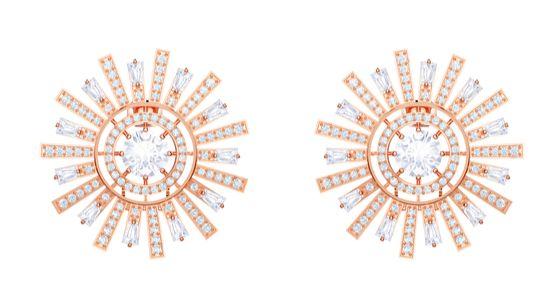 스와로브스키 선샤인 컬렉션의 귀걸이. 햇살을 모티프로 디자인했다. [사진 스와로브스키]