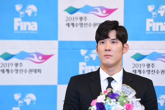 '2019 광주세계수영선수권대회' 홍보대사인 박태환. [연합뉴스]