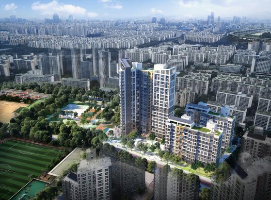 서울시 강남구 일원동의 '디에이치 포레센트(일원대우아파트 재건축)' 조감도 [사진 현대건설]