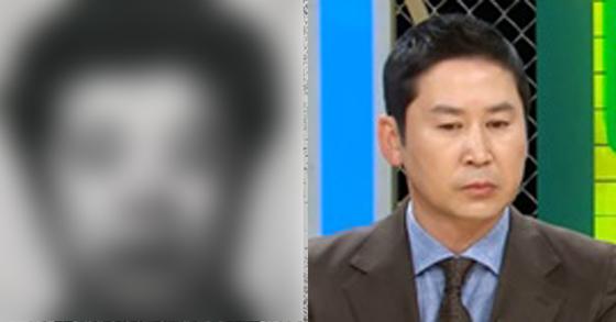 MBC 실화탐사대가 공개한 조두순 얼굴(왼쪽)과 이를 본 신동엽.[MBC 화면 캡처.]