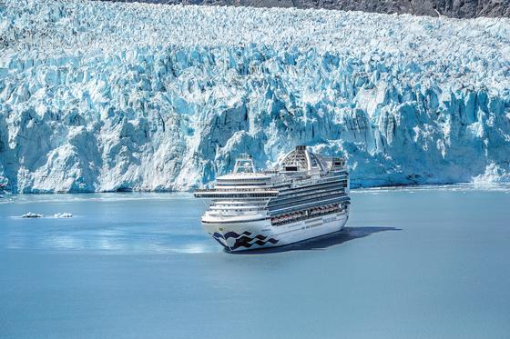 Crown Princess in Glacier Bay, Alaska