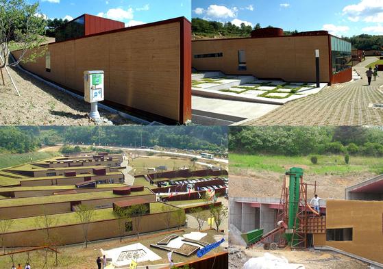 승효상 건축가가 설계한 강원도 인제의 '한국DMZ 평화생명동산'의 모습. 흙과 코르텐과 콘크리트가 어우러진다.[사진 건축연구소 알콘]