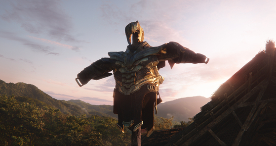 영화 '어벤져스:엔드게임'에 나오는 우주 최강 악당 타노스의 갑옷. [사진 월트디즈니컴퍼니 코리아]